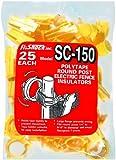 Fi-Shock SC-150 Yellow Polytape Round Post  Insulators, 25-Per Bag