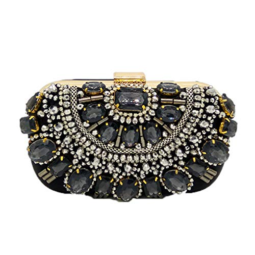 Clutch Silver Purse Box Evening Beaded Clutches Women Famous Black Bags Crystal Wedding ULKpiaoliang Bridal Metal Beaded Purple Bag Handbags 6zOnw
