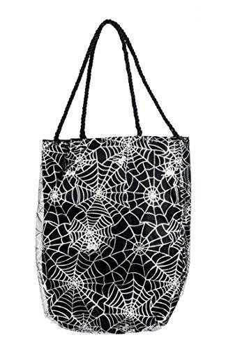 Boland 72015 Borsetta Halloween Fashion Spider Web, Nero/Bianco, Taglia Unica
