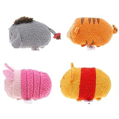 Disney Winnie the Pooh and Pals ''Tsum Tsum'' Plush - Mini - 3 1/2'' Tigger, Piglet, Pooh, and Eeyore: Toys & Games