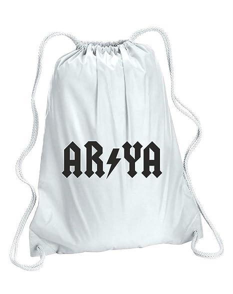 Arya Gymsac de AC/DC cordón bolsa de zapatos de mochila escolar bolso de gimnasio