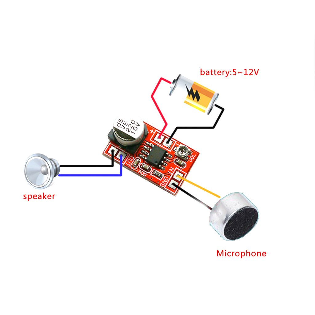 Ringbuu Dc 5v 12v Micro Electret Amplifier Mic Condenser This D0electret Microphone Schematicsvg Image From Mini Board Home Improvement