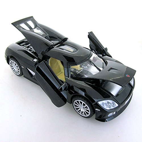 nickys-gift-black-1-32-scale-koenigsegg-ccr-sports-car-diecast-model-sound-light-4-doors