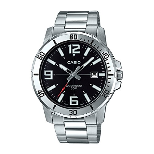 - Casio MTP-VD01D-1BV Men's Enticer Stainless Steel Black Dial Casual Analog Sporty Watch