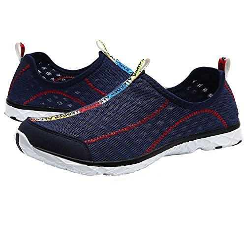 Mixsnow Womens Slip On Sneaker Mesh Casual Sport Walking Beach Aqua Piscina Acqua Scarpe Navy