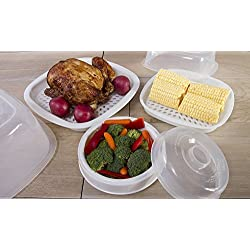 Microwave Cooking Set - 9 Piece Microwave Cookware Set by MicroBuddy - Home-cooked meals in minutes