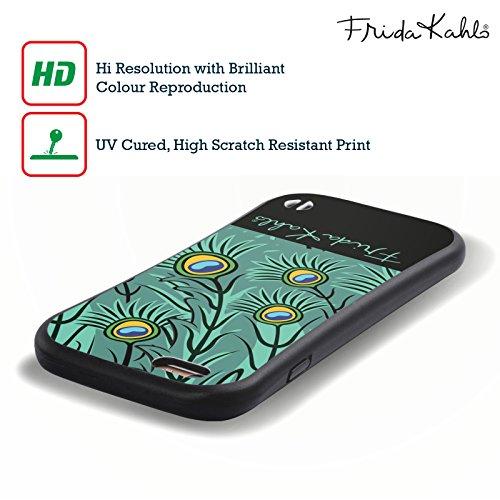 Officiel Frida Kahlo Plumes Paon Étui Coque Hybride pour Apple iPhone 5 / 5s / SE
