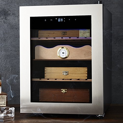 Cigar Enthusiast Humidor - Maintains ideal temperature and humidity for cigars - Spanish Cedar wood drawer and shelves by Wine Enthusiast (Image #1)