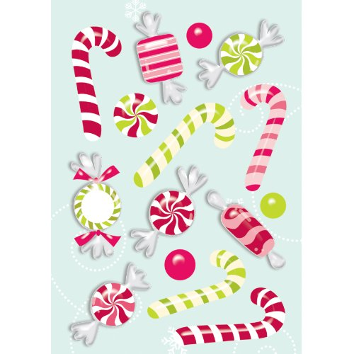 American Girl Crafts Holiday Goodies Bubble Stickers -