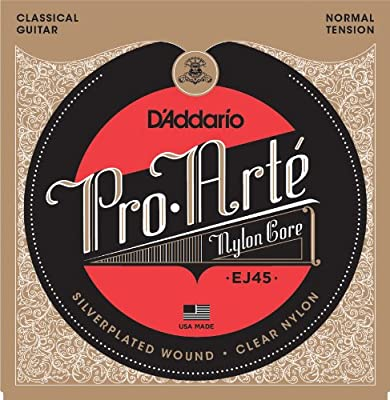 D'Addario EJ45 Pro-Arte Nylon Classical Guitar Strings, Normal Tension from D'Addario &Co. Inc