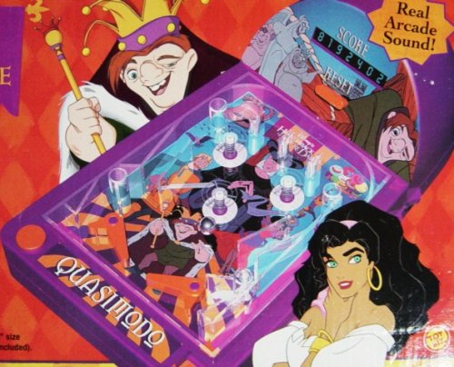 Disney Hunchback Of Notre Dame Electronic Pinball Game by Toy Biz