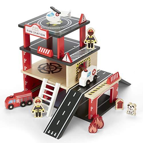 Willow Dollhouse Kit - Hammacher Schlemmer The FAO Schwarz Wooden Fire Station