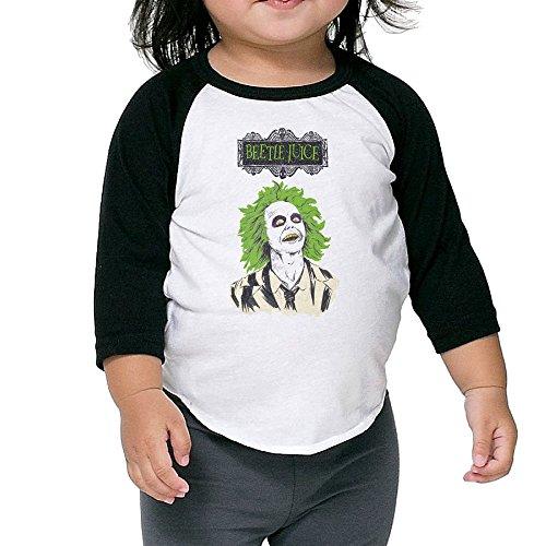 Cayonom Child Kids Beetlejuice Baseball Jersey T-Shirt 5-6 -