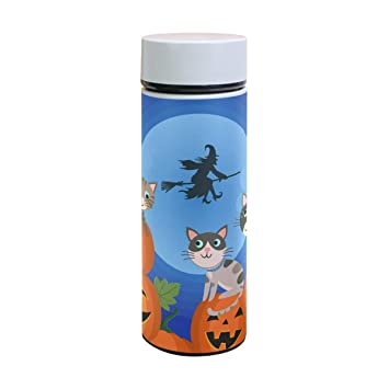 Jeansame Halloween calabaza gato bruja otoño otoño termo ...