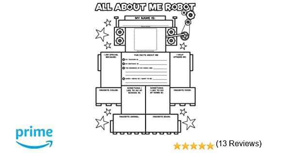 Graphic Organizer Posters: All-About-Me Robot (Grades K-2): 30 ...