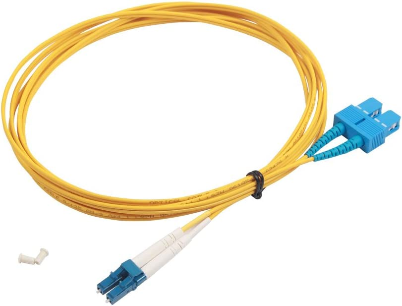 SC to SC Fibre Patch Cable 2m LSZH for 10Gb//Gigabit SFP Transceiver OS1//OS2 Leads Single Mode Duplex 9//125 Fiber Optic Cable