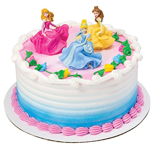 DecoPac Disney Princess Once Upon A Moment DecoSet Cake Topper - Cinderella Cake Decorations