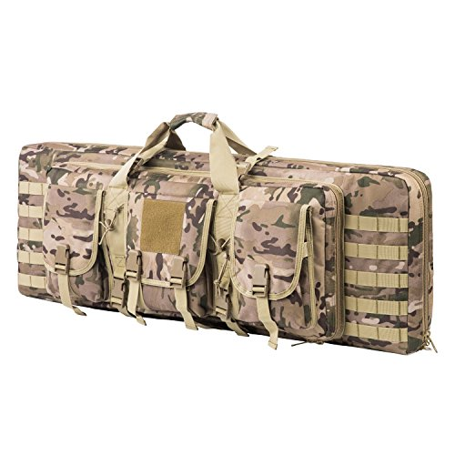 ARMYCAMOUSA 38 Inch Double Rifle Bag Outdoor Tactical Carbine Cases Water dust Resistant Long Gun Case Bag for Hunting Shooting Range Sports Storage and Transport (Tactical Rifle Case)