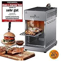 GOURMETmaxx Beef Maker | Oberhitze Gasgrill aus Edelstahl für Temperaturen bis zu 800° C | Hochleistungs Gas Grill für Steaks wie vom Profi