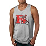 kitchenaid mixer pink cover - Boxer98 Men's Unique Rutgers University R Logo Tank Top Ash XL