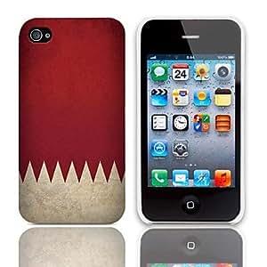 Patrón de la bandera de la vendimia del estuche rígido con paquete de 3 protectores de pantalla para iPhone 4/4S