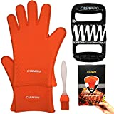 Best Grilling Gloves For Cooking - 5Pack Silicone Cooking Glove Meat Shredder - Including Review
