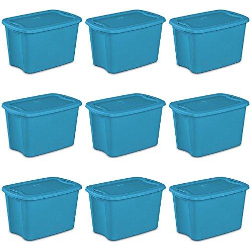 Sterilite 18201009 10-Gallon Tote Box Lapis, - Gallon 10 Tote