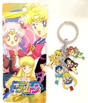 Sailor Moon metal encanto llavero 5 en 1: Amazon.es: Coche y ...