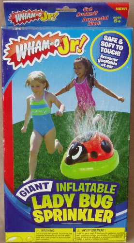 Wham-o Jr! Giant Inflatable Lady Bug Sprinkler Outdoor Water Toy