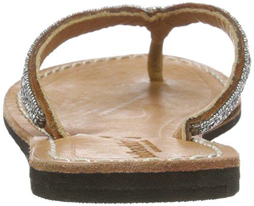 laidbacklondon Seri - Sandalias con cuña Mujer Braun (midbrown silver)