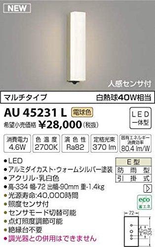 AU45231L 電球色LED人感センサ付アウトドアポーチ灯(グリーン購入法適合製品) B01GCAYU8O