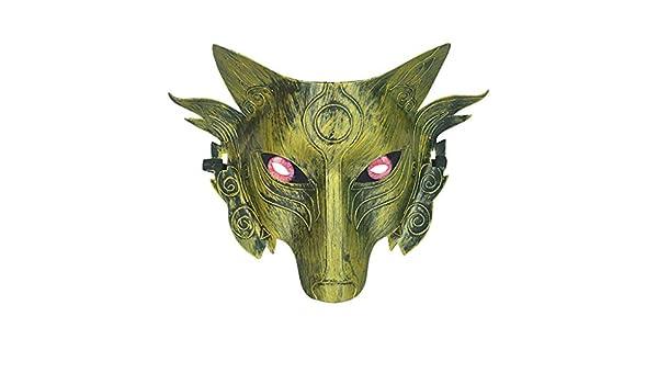 Lookhy Máscara de Disfraz de Lobo para Halloween, máscara de Cara ...