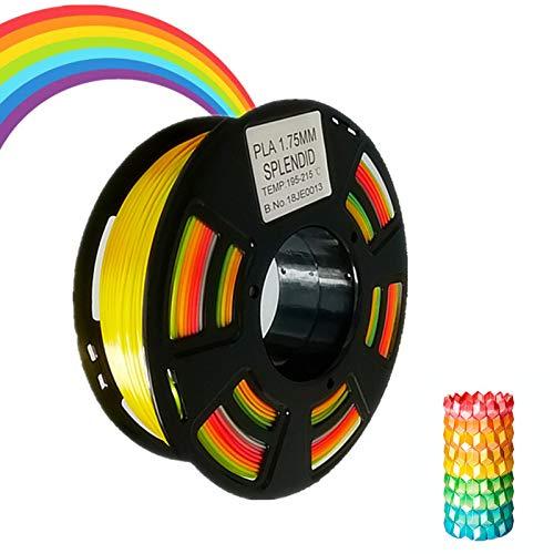 Accuracy  0.05/MM 2.2lb Stronghero3d FDM 3D Printer PLA Filament 1.75mm Multicolor Gradient Rainbow 1KG