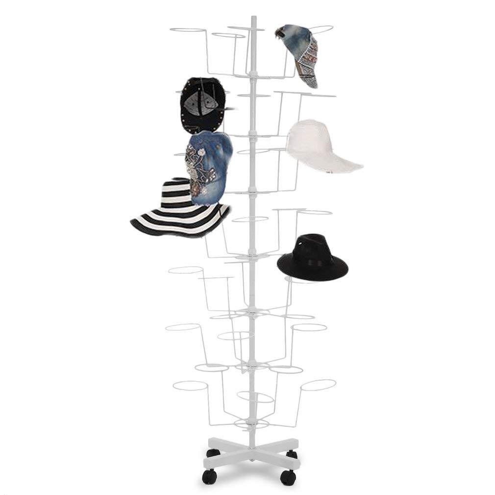 Genuine store Premium Hat Racks Hat Display, 7 Tier 35 Hats Rotating Retail Hat Display Stand for Baseball Caps, Women's & Men's, Cowboy's Hat - Height Adjustable (White) Women' s & Men' s Cowboy' s Hat - Height Adjustable (White) Genuinestore