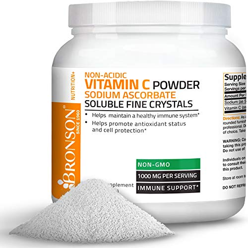 Bronson Vitamin C Non-Acidic Sodium Ascorbate Powder, Non-GMO,1 Kilo (2.2 lbs, 35.3 Ounces)