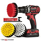 4in 3 Piece Soft, Medium and Stiff Power Scrubbing Brush Drill Attachment