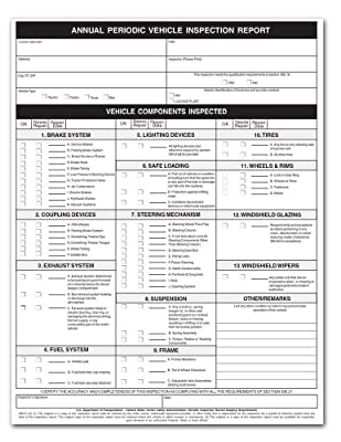 Vehicle Inspection Form
