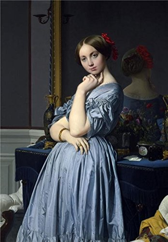 The Perfect Effect Canvas Of Oil Painting 'Jean-August-Dominique Ingres - Comtesse D'Haussonville, 1845' ,size: 10x14 Inch / 25x36 Cm ,this Reproductions Art Decorative Prints On Canvas Is Fit For Foyer Decor And Home Decoration And Gifts