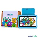 NeuTab 7 inch Kids Tablet, 7 Quad Core Android 5.1 Lolipop System HD IPS Wide Angle Screen w/ iWawa Software Bundle Kids Model Pre-installed, FCC Certified (Blue)
