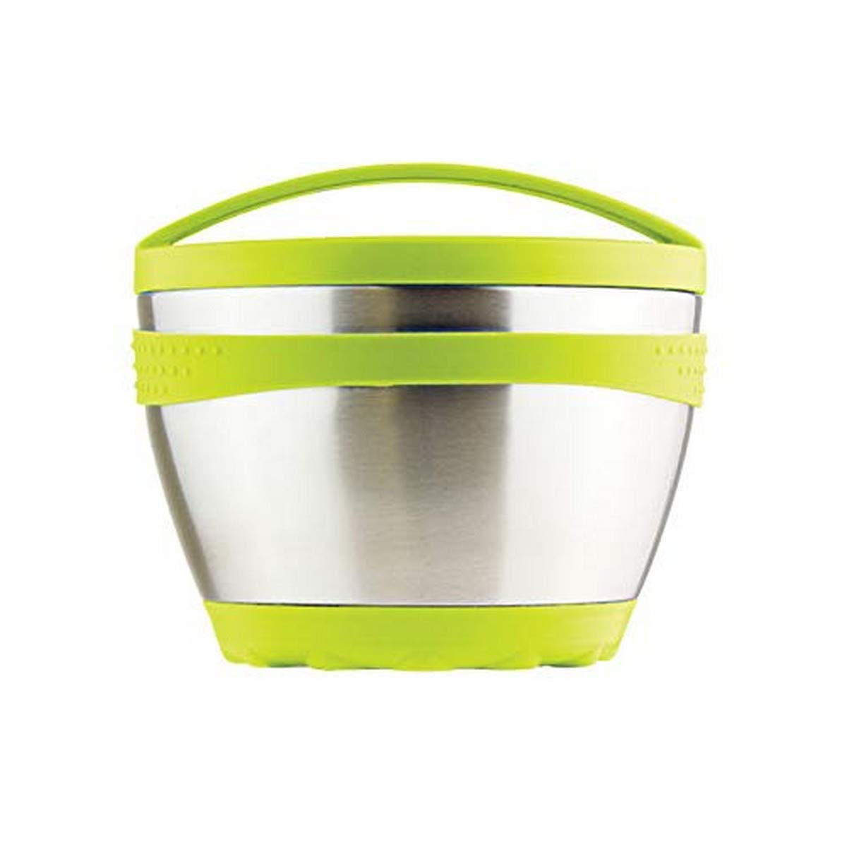 Kid Basix Safe Bowl, Reusable Stainless Steel, Lunch Container for Adults, Thermos for Hot & Cold Food Storage, Dishwasher Safe, 16oz, Lime