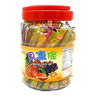 Jin Jin Fruit Jelly Filled Strip Straws Candy - Many Flavors! (35.26 oz)