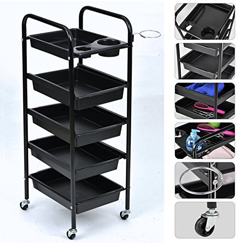 Salon Trolley, Rolling Trolley Equipment Rolling Storage Tray Cart for Tool Storage Beauty Salon Spa Styling Station