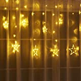 UthTent Big Star Curtain Lights for Kids Pink Princess Castle Playhouse Parts (Star Light)