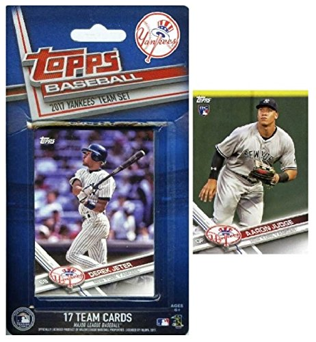 New York Yankees 2017 Topps Baseball EXCLUSIVE Special Limited Edition 17 Card Complete Team Set with Derek Jeter,AARON JUDGE RC,Masahiro Tanaka,Gary Sanchez & More! Shipped in Bubble Mailer! WOWZZER