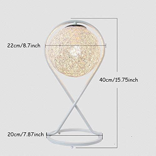 XYJGWSTD Table Lamp Iron Table Lamp Romantic Night Light Creative Wind Starry Table Lamp Bedroom Bedside Lamp Fantasy Rattan Ball Moon Light