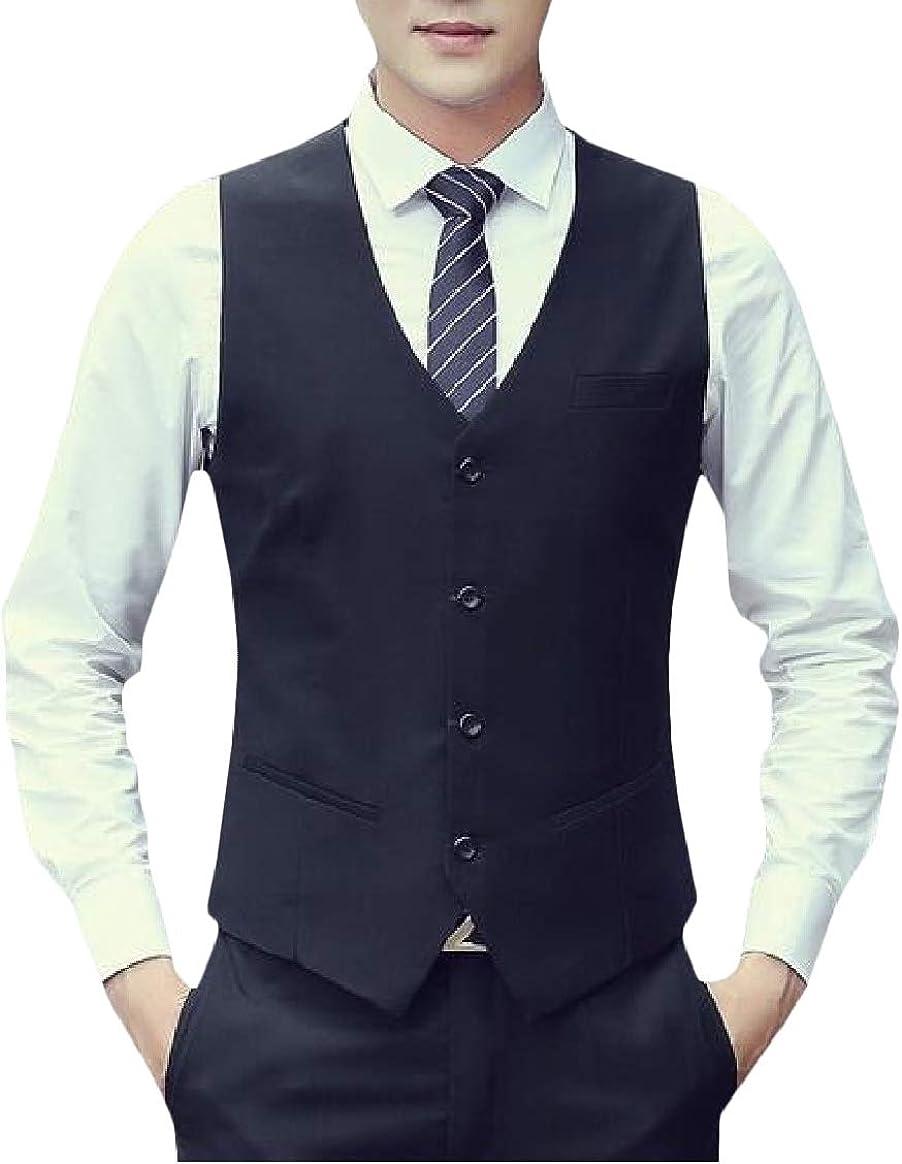 Abetteric Mens Tank Premium Bodycon Oversize Business Waistcoat Vest