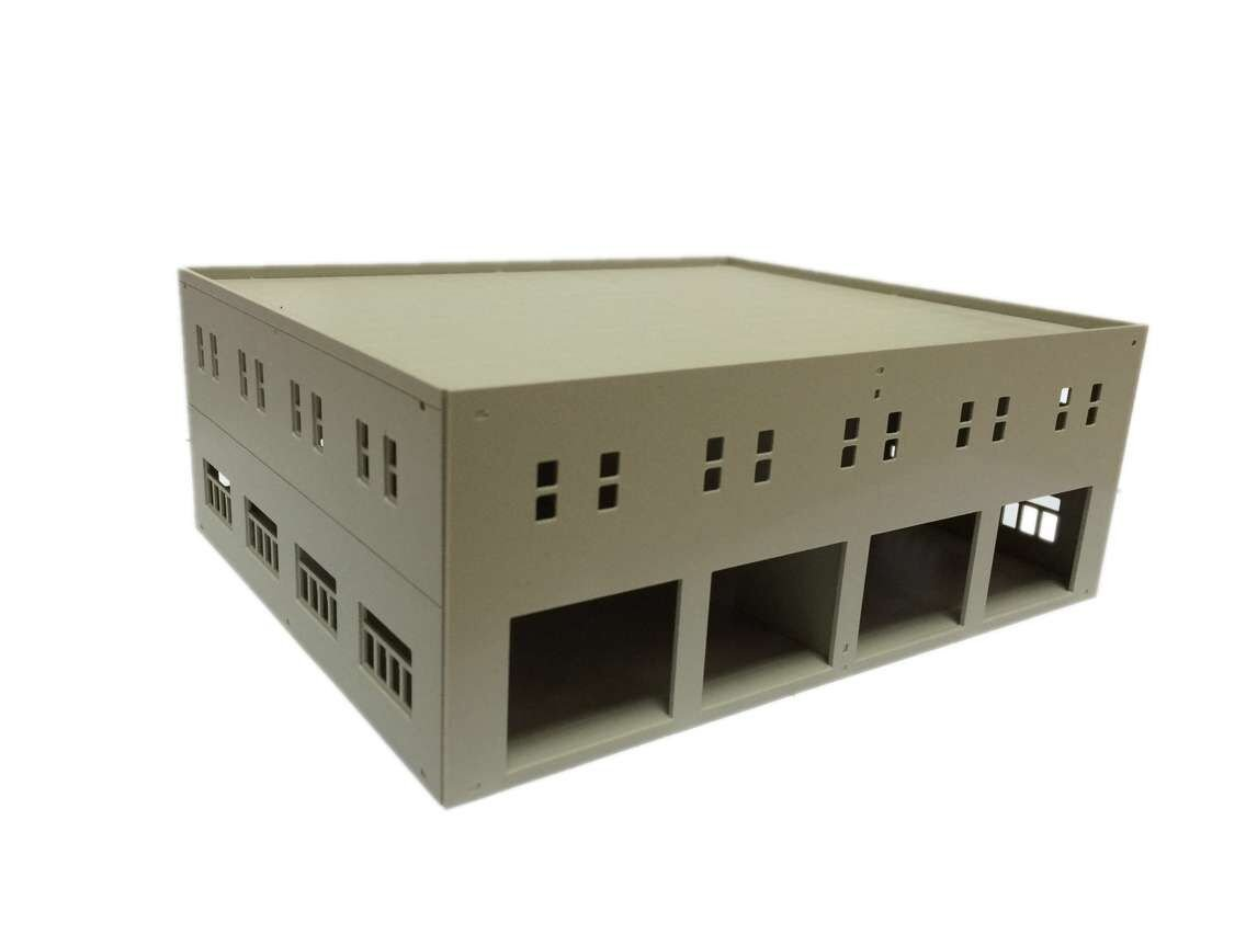 outland models Train Railway Garage / Logistics Centre Unpainted HO OO Scale