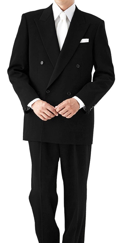 (ミユキエクストラブラック)御幸毛織 Extra Black ブラックフォーマル ダブル 4つボタン 礼服 喪服 アジャスター(ウエスト調整) B074MQTBJK BB4 [ 着用目安:身長160-165cm/ウエスト92cm前後