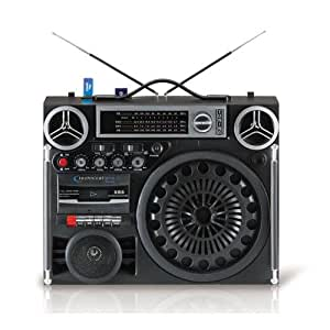 Technical Pro Boombox9 Portable Battery Powered Stereo with USB & SD Card Inputs