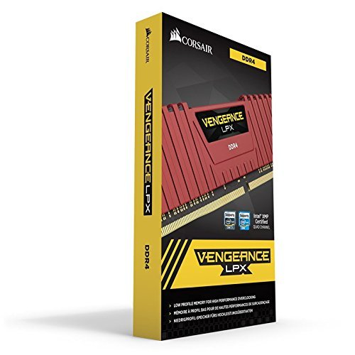 Corsair Vengeance LPX 32GB DDR4 DRAM 2400MHz C14 Memory Kit for DDR4 Systems 2400 MT/s (CMK32GX4M2A2400C14R)